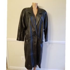 Authentic Leather Trench- Vintage